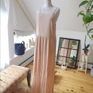 Nude maxi asos dress